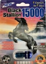 5 for $22.99 BLACK STALLION 15000 Male Enhancement Sex Pills Stronger Than Rhino