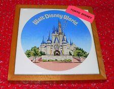 Tokyo Disney Walt Disney World wood framed ceramic trivet Japan