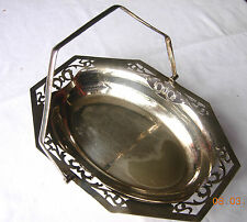 Vintage or antique silver plate basket with handle Made in England, EPNS MAP