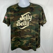 Jelly Belly Jelly Beans Unisex Medium Camouflage Army Green Graphic T-shirt