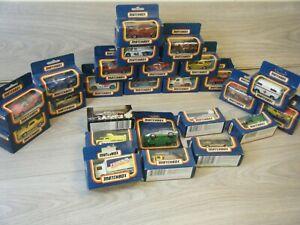 HUGE BUNDLE OF 25 VINTAGE BOXED MATCHBOX METAL DIECAST CARS LOT 3