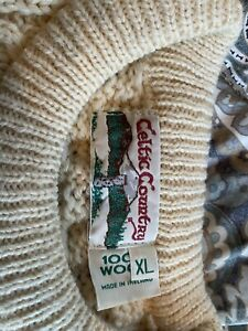 Ireland Wool Fisherman Sweater XL