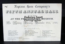 Philadelphia Fireman Museum Dress Ball Tickets 1847, 1848, 1849 Dance Cards Fire