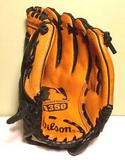 """Wilson Youth Leather Baseball Glove 11"""" Model A350 Right Hand Thrower"""