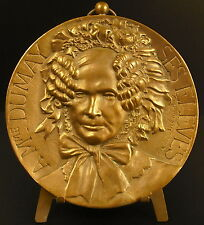 Medaille médaillon 10 cm à Madame Dumay ses élèves 1879 par Alphée Dubois medal