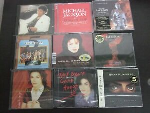 4 CD Alben + 5 Single/ Maxis MICHAEL JACKSON Sammlung