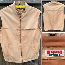 Vintage Batani Sport Leather Vest 80s 1980s S