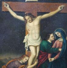 Umkreis Stobwasser Inri Christus am Kreuz mit Maria Johannes und Maria Magdalena