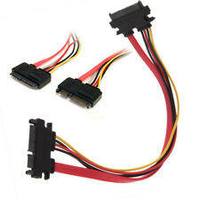 12 Inch Male to Female 7+15 Pin SATA Data HDD Power Combo Extend Extension Cable