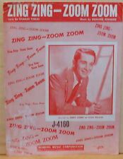 Zing Zing - Zoom Zoom - 1950 sheet music - Perry Como cover