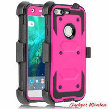 For Google Pixel XL Holster Case Cover Built-in Screen Protector with Belt Clip