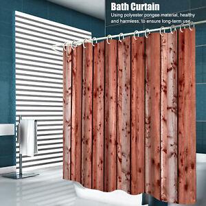 Long & Wide Waterproof Shower Curtain Bathroom Vinyl Fabric With 12 Rings