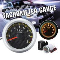2 Inch Tachometer Gauge 0-8000 RPM For 4-8 Cylinder Engines 12V Gasoline Vehicle
