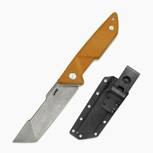"""Premium Tanto Knife Fixed Blade Hunting Survival Tactical D2 Steel G10 Handle 5"""""""