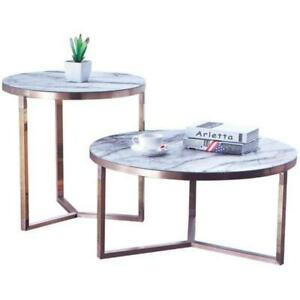 Designer Couch Table Round Tables Round Sofa Metal Glass Side Living Room New