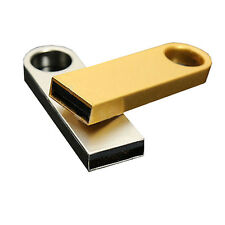 64GB Metal USB Flash Memory Drive Stick Pen Thumb Key Cute U Disk Gold Silver