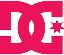 DC SHOES VINYL STICKER (23cm, HOT PINK) WINDOW, CAR, SKATE, SURF, DECAL