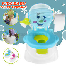US 2In1 Kid Baby Toilet Trainer Child Toddler Potty Training Seat Chair Portable