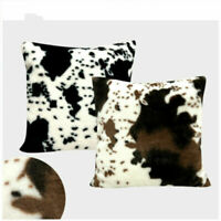 Cow Pattern Pillow Cover Animal Pattern Plush Fluffy Room Decor Pillowcases