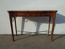 Wood Sofa Table Theodore Alexander Console Faux Bamboo Chinoiserie Chinese