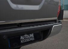 CHROME PORTA posteriore portellone Trim Striscia di copertura per adattarsi Nissan Navara NP300 (2015+)