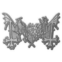 OFFICIAL LICENSED - MAYHEM - LOGO METAL PIN BADGE BLACK METAL