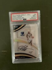 Vince Carter Auto PSA 2016 Panini Immaculate Collection Shadow Box Sig