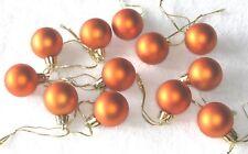 Miniature Ornaments Balls Orange Bronze Christmas Shatterproof Satin Feather