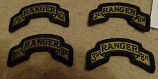 ARMY PATCH, ARMY RANGER SET,(4) MULTI CAM, SCORPION, WITH hook tape