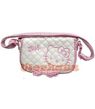 Hello Kitty Quilted small Cross Body bag mini messenger Purse, New