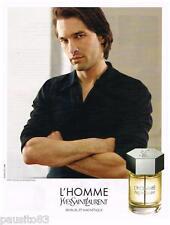 PUBLICITE ADVERTISING 095 2009  YVES SAINT LAURENT parfum L'HOMME & O. MARTINEZ