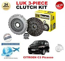 FOR CITROEN C3 PICASSO 1.2 THP 110 2015-ON 1.6 HDi 2009-ON LUK CLUTCH KIT 3 PC