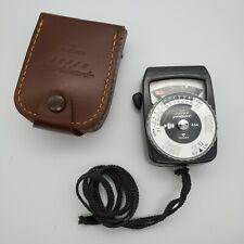 Vintage Gossen Super Pilot CDS Exposure Meter With Case & Strap Works W. Germany