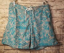 Mens Swimming Trunks by Surf & Swim Co. Swim Trunk Shorts Size 40 XXL aqua/gray