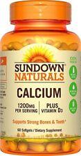Sundown 1200 mg Calcium + D3 Softgels, 60 Ct