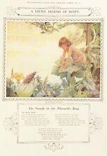 Old vintage print Fée Jardin SCARAB BEETLE par Arthur H Buckland c1926