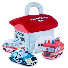 Plush Creations Plush Emergency Vehicles Toy Set | Includes 3 Emergency Vehicles