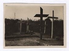 PHOTO ANCIENNE Snapshot Tombe Cimetière Croix Religion Vers 1922 Près de Reims