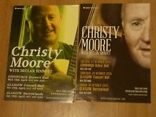 Christy Moore live music memorabilia Scottish tour concert show gig posters x 2