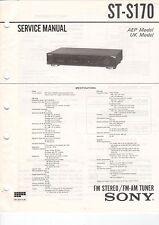 SONY - ST-S170 - Service Manual - B2924