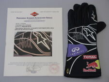 SEBASTIAN VETTEL Hand Signed Racing Glove + PAAS COA *BUY AUTHENTIC*