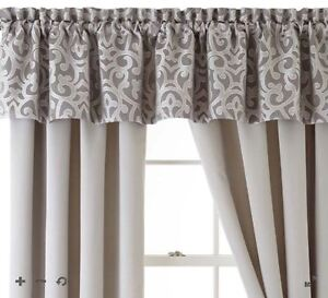 Jcp Home Expressions Erin Tailored Rod Pocket Valance 80 W x 16 L Gray