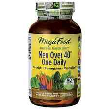 MEGA FOOD MEN OVER 40 ONE DAILY 90 COUNT. FACTORY SEALED . EXPIRES MAY 2020