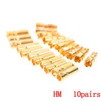 20Pcs/lot 3.5mm gold banana bullet engine connector (10 pair) RDR