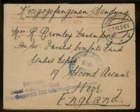 Germany WWI Camp Pr Holland POW UK Britain England British War Cover 96623