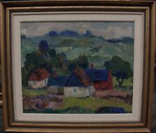 Karl Enock Ohlsson 1889-1958, koloristische paesaggio, datato 1957