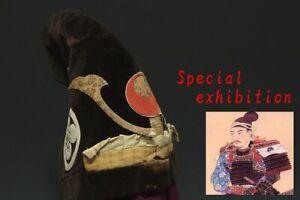 Japan Antique Eboshi hat Edo jingasa kabuto yoroi koshirae Armor samurai busho