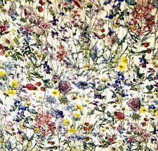 Liberty Belgravia Silk Satin fabric Wild Flowers