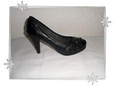 Magnifiques Chaussures Escarpins Fantaisies Noir Xti Pointure 38