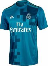 adidas Mens RMCF Real Madrid 3rd Shirt Vivid Teal UK Size Medium 100 Authentic